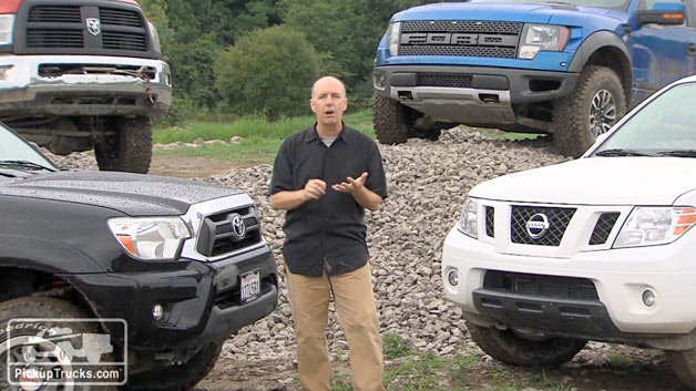 Mark Williams of PickupTrucks.com with 2012 Ultimate 4x4 Challenge competitors