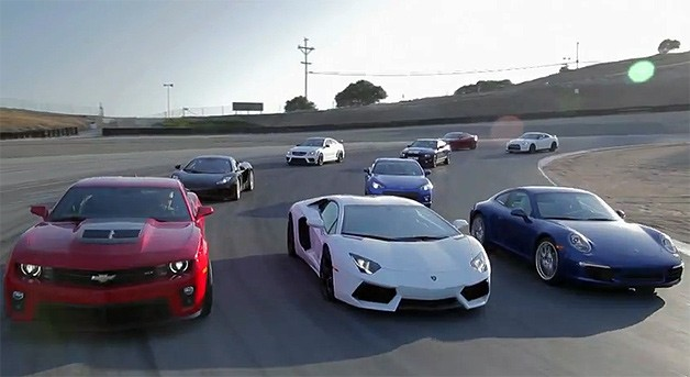 Motor Trend Best Driver's Car 2012 showdown - video screencap