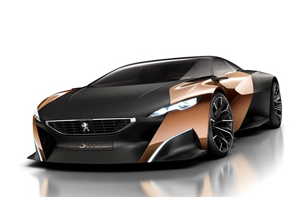 Peugeot Onyx concept - front three-quarter studio view