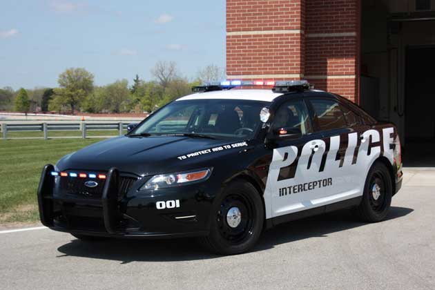 Ford's Taurus-based Police Interceptor - front three-quarter view
