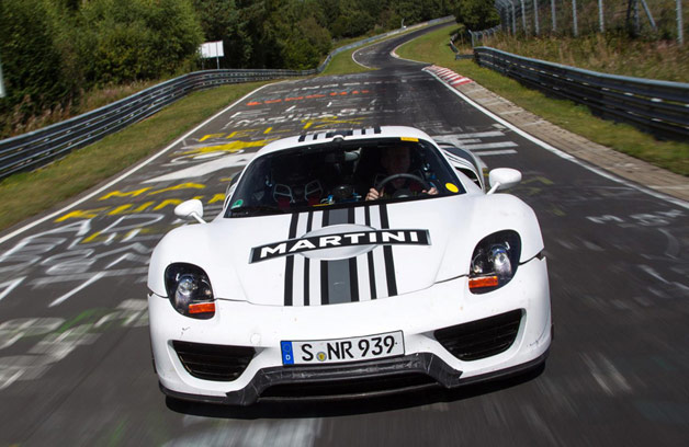 porsche claims 7 14 lap time for 918 spyder on n rburgring. Black Bedroom Furniture Sets. Home Design Ideas