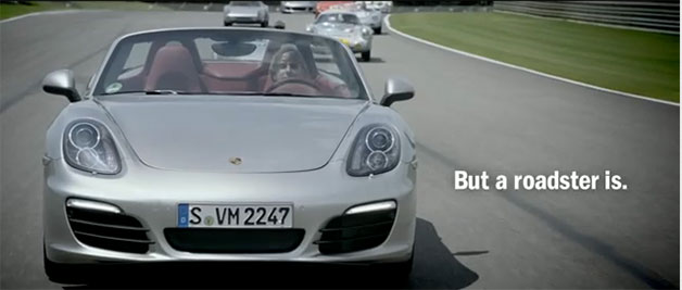 2013 Porsche Boxster ad screencap