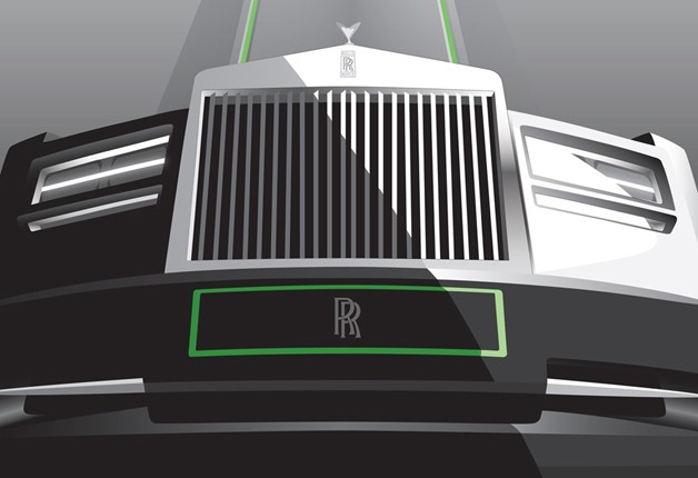 Rolls-Royce art deco poster