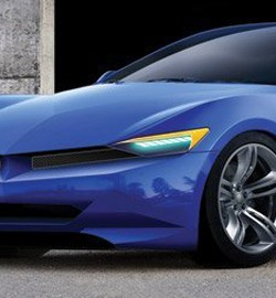 2015 SRT Barracuda rendering by Jon Sibal - chopped front 3/4 view