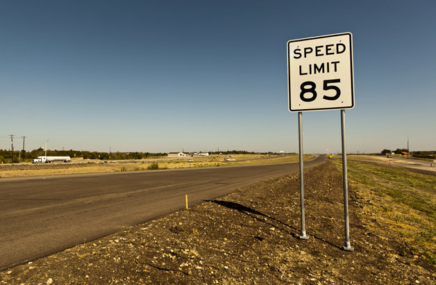 Texas 85 MPH speed limit
