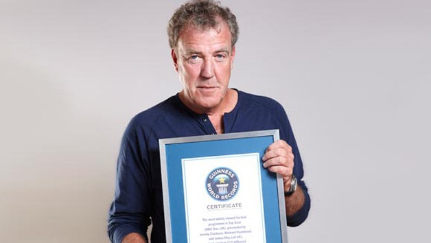 Jeremy Clarkson with Guinness World Record