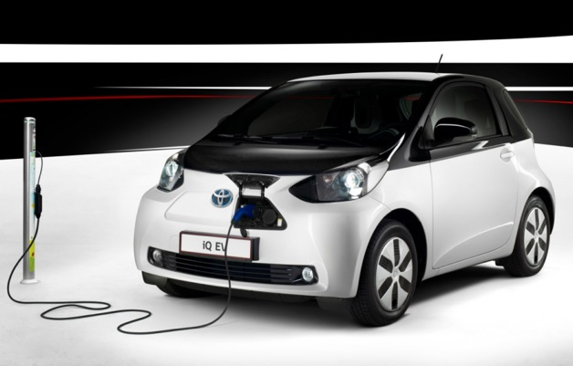 Toyota iQ EV plugged in