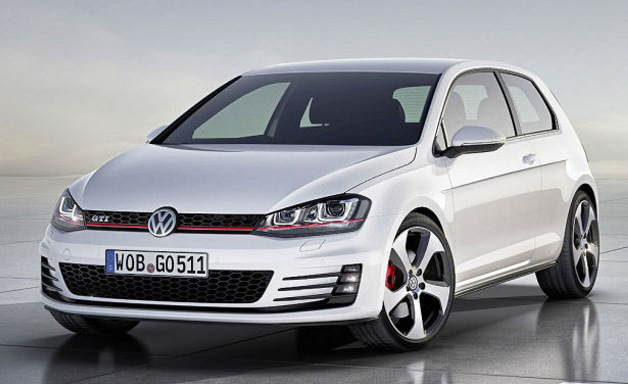 2013 Volkswagen Golf GTI concept - front three-quarter studio view