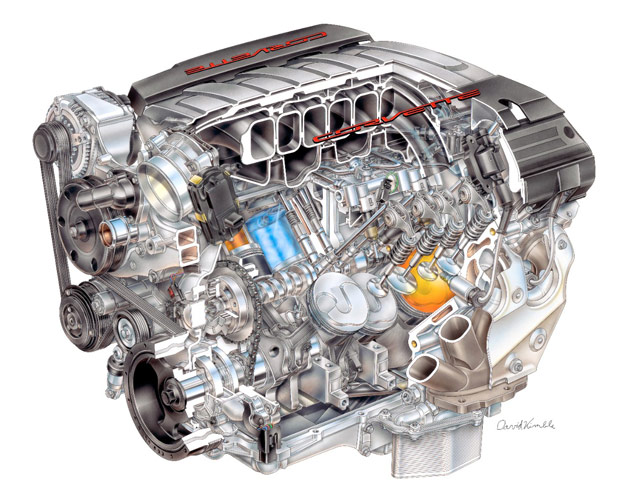 GM fifth-generation small-block V8 cutaway - LT1