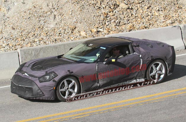 2014 Chevrolet C7 Corvette prototype spotted testing under camouflage