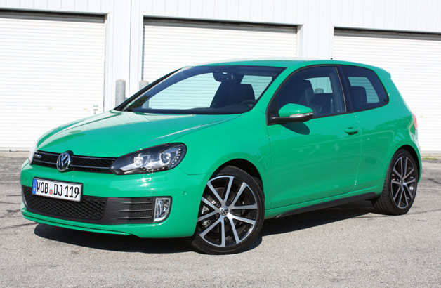 2012 Volkswagen Golf GTD - front three-quarter view, green