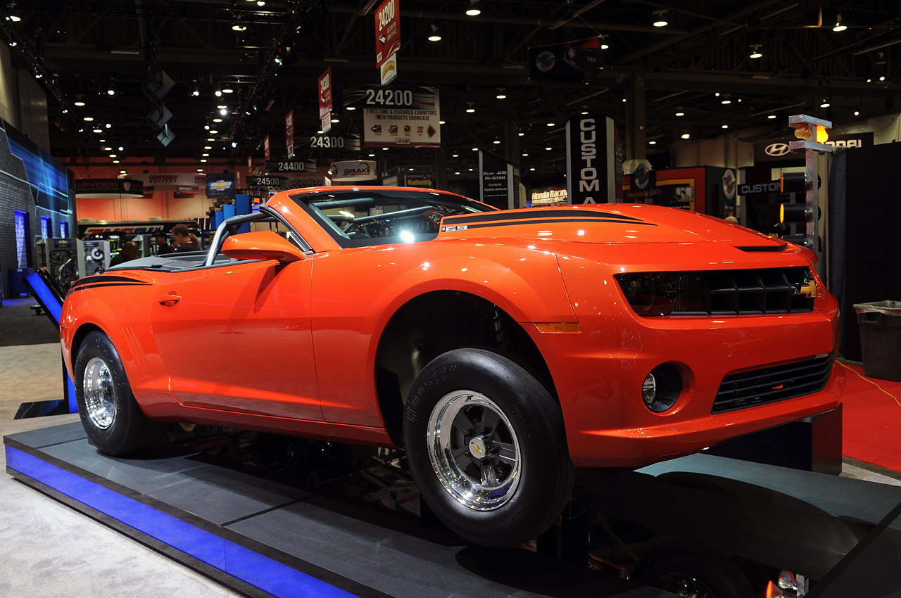 2012 Chevrolet COPO Camaro Convertible is an Inferno Orange