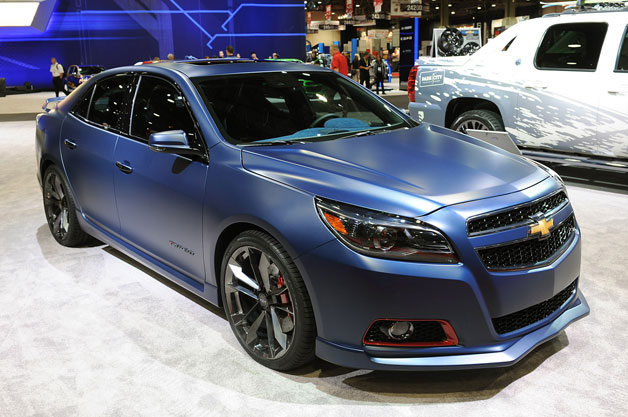 Chevy Malibu Turbo Performance Concept live at SEMA