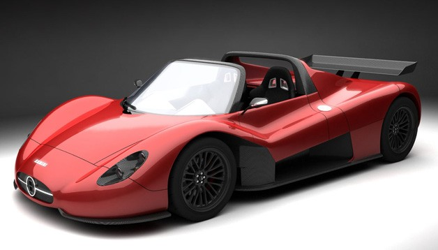 Ermini Seiottosei sports car - front three-quarter rendering