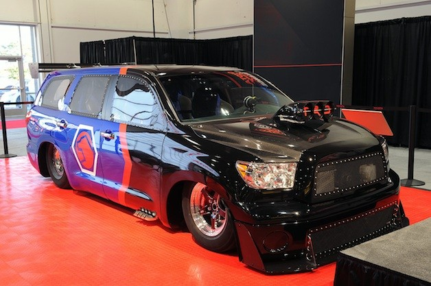 Toyota DragQuoia live at 2012 SEMA show