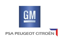General Motors and PSA Peugeot Citroen logos