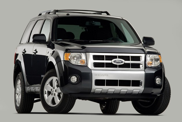 2008 Ford Escape - black - front three-quarter view