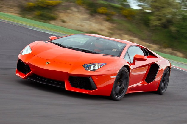 2012 Lamborghini Aventador - front three-quarter dynamic view