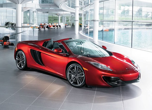 2013 McLaren MP4-12C Spyder - front three-quarter static view