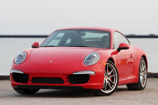 2013 Porsche 911 Carrera S - front three-quarter view, red