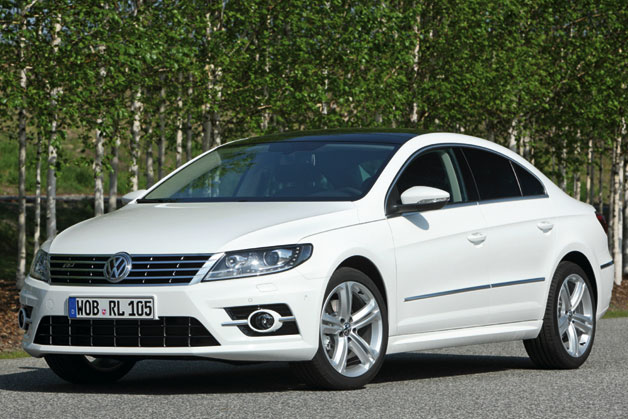 2013 Volkswagen CC R-Line - white - front three-quarter view