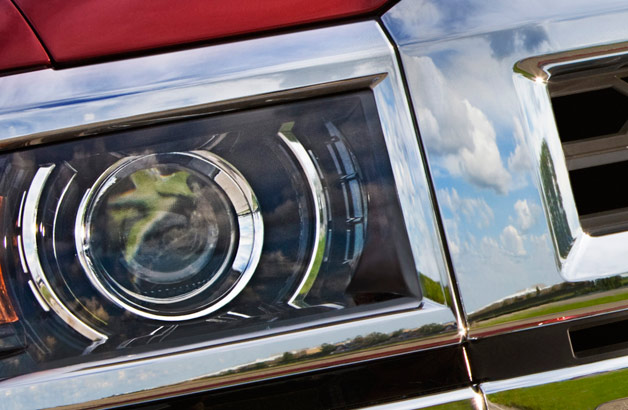 2014 Chevrolet Silverado headlight teaser