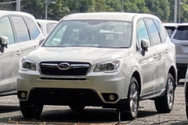 2014 Subaru Forester - white - spy shot