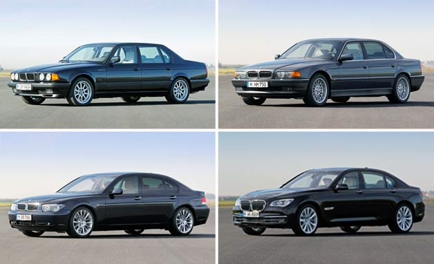 BMW's V12 7 Series models over the years