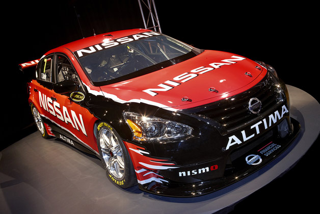 2013 Nissan Altima V8 Supercar reveal on plinth