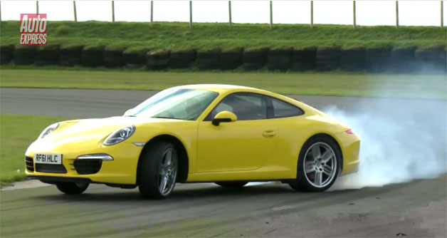 Auto Express pilots new Porsche 911 around a racetrack