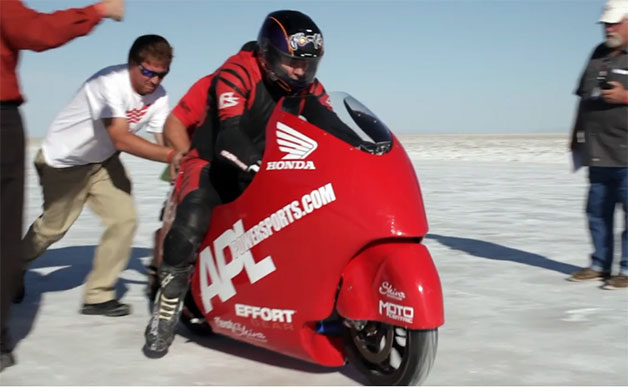 Highly modified honda cbr1000rr hits 265 mph at bonneville for Al lamb honda