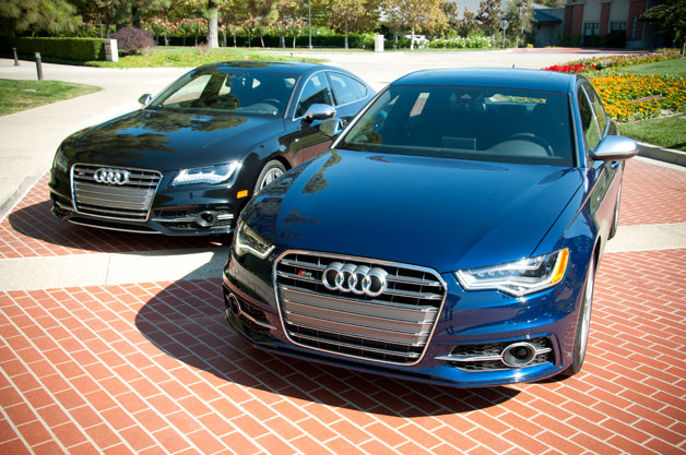 2013 Audi S6 and S7 parked side-by-side
