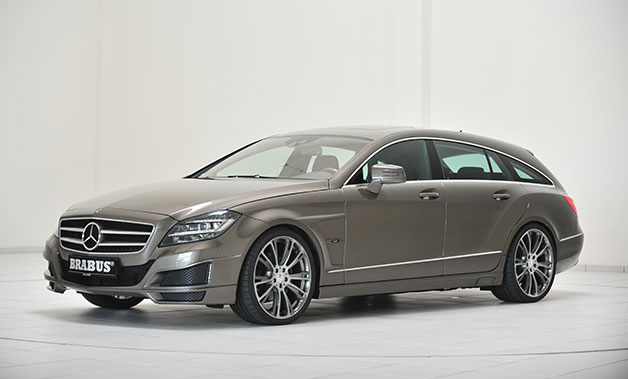 Mercedes-Benz CLS Shooting Brake tuned by Brabus - studio front three-quarter view