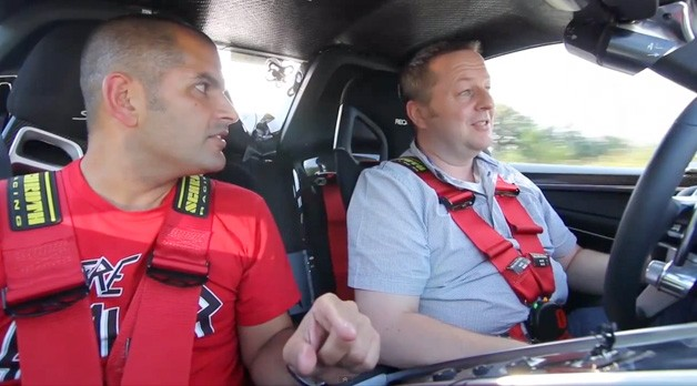 Chris Harris ride-along in Porsche 918 Spyder prototype - cabin shot