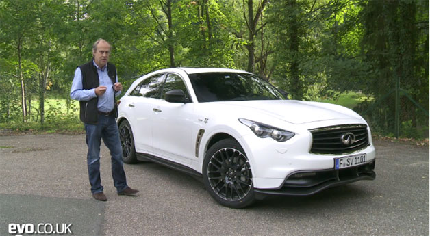 EVO editor Harry Metcalf with Infiniti FX Vettel Version