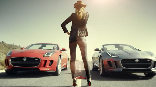 Jaguar F-Type Race - video screencap