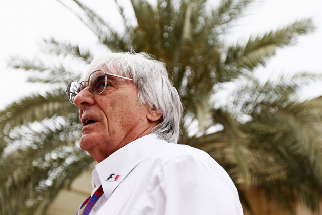 F1 boss Bernie Ecclestone with palm tree