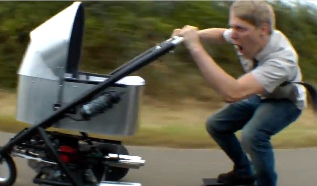 Colin Furza on what could be the world's fastest baby stroller