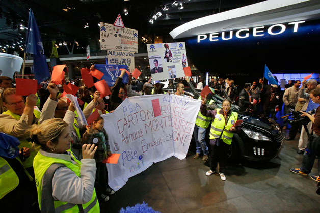 Paris Motor Show Protests