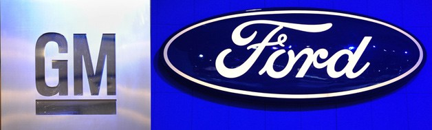 GM and Ford logos
