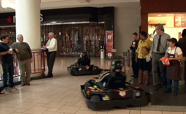 Karts in a shopping mall