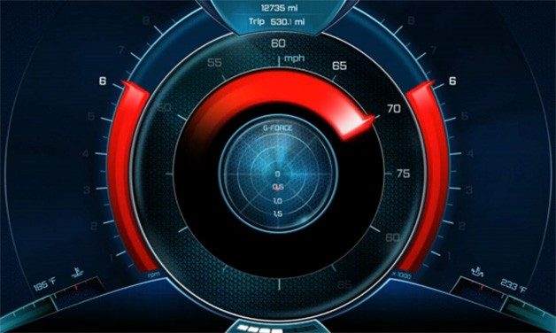 Digital Car Gauges Cluster : Id motion re imagines your car s gauge cluster