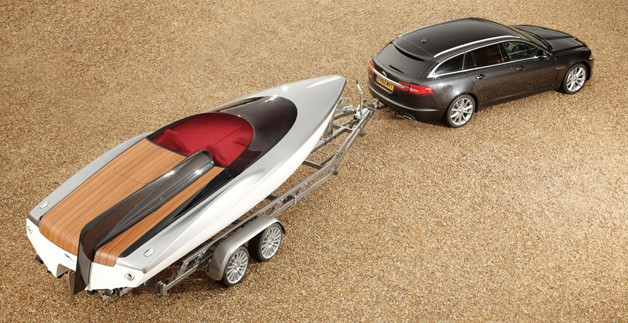 Jaguar XF Sportbrake with speedboat concept