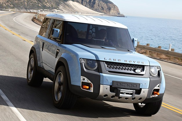 Land Rover DC100 'Defender' concept on the road