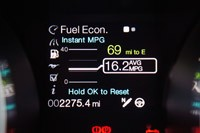 2013 Ford Shelby GT500 fuel economy display