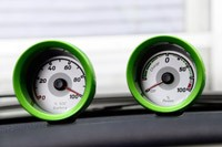 2013 Smart Fortwo Electric Drive auxiliary gauges