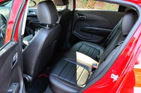 2013 Chevrolet Sonic RS rear seats
