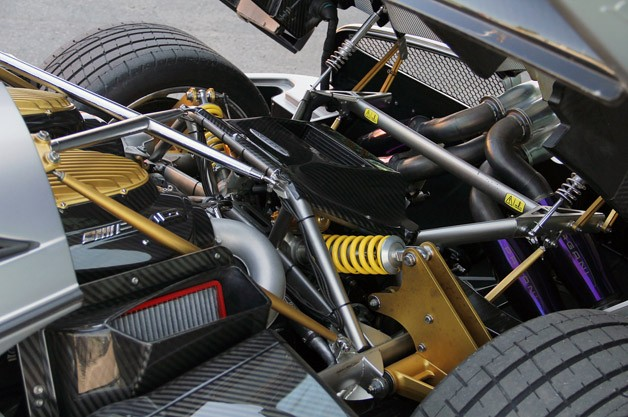 2013 Pagani Huayra engine