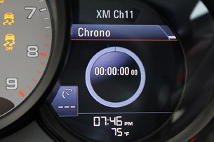 2013 Porsche 911 Carrera S Sport Chrono display