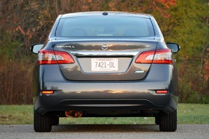 2013 Nissan Sentra rear view